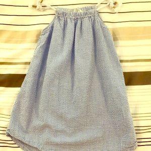 Sweet blue seersucker sundress!